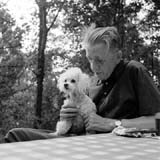 Ferdinand Peroutka with Pixie, photo: CTK