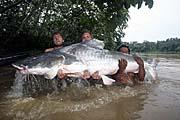 Jakub Vágner (left) with the biggest catch, photo: CTK
