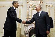 Barack Obama et Vladimir Poutine, photo: CTK
