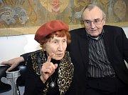 Bohumila Grögerová aZdeněk Sýkora vúnoru letošního roku, foto: ČTK