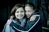 Masha Drokova with her sister, photo: Made in Copenhagen