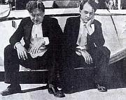 Jan Werich and Jiri Voskovec