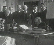 Signing of the so-called 'Benes decrees'