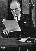 Edvard Beneš speaking to the nation
