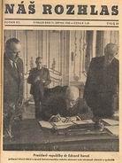 Edvard Beneš unterzeichnet die Dekrete