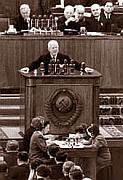 Никита Хрущев на XX съезде КПСС