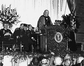 Winston Churchill à Fulton