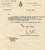 Notification of the Czechoslovakian Military Cross