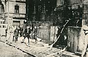 Operación de los bomberosen la cripta de la Iglesia de los santos Cirilo y Metodio