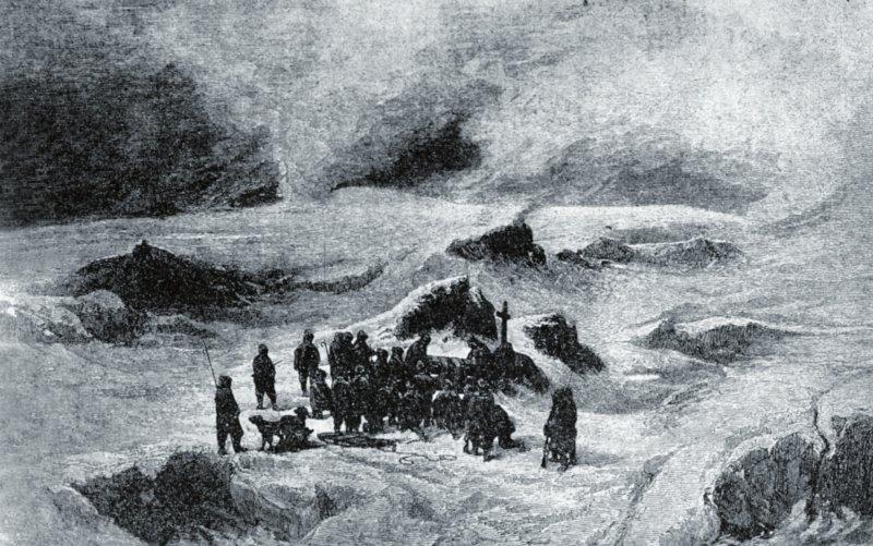 Julius Payer - 'Ota Kříž's funeral', photo: Public Domain