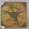 Porodnický kalendář dr. Czardy, cca. 1880 (ze sbírek Zdravotnického muzea)