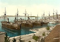 The port of Pula around 1890