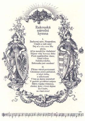 Чешский текст австрийского гимна