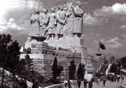 Le monument à Staline sur l'esplanade de Letna