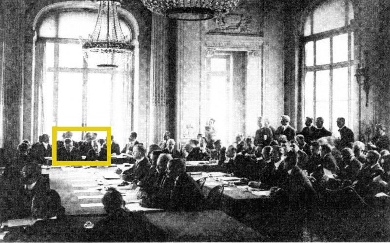 Karel Kramář et Edvard Beneš à la conférence de Paris, photo: public domain