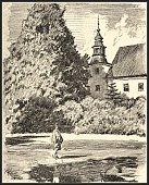 Chateau de Bludov par Adolf Kašpar