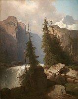 A. Chwala: Wasserfall im Gebirge
