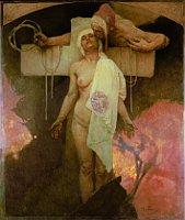 Alfons Mucha, 'Baiser de la France à la Bohême'
