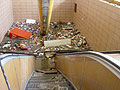 El metro de Praga, estación Florenc, agosto de 2002