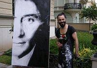 Franz Kafka, la pintura de Emilio Forniles, foto: Borja de Jorge