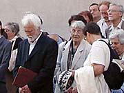 Der Bürgermeister von Nové Mesto, Josef Sokolicek und die ie ESBU-Vorsitzende Vera Lukásová