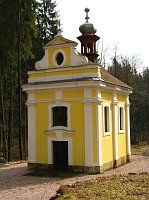 Kaple v areálu Svatojánských lázní
