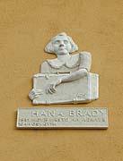 Gedenktafel für Hana Brady