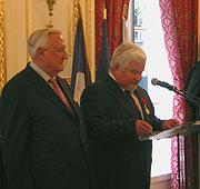 Christian Poncelet et le Président du Sénat tchèque, Petr Pithart