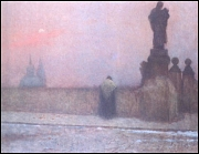 Evenfall on Hradčany, Jakub Schikaneder
