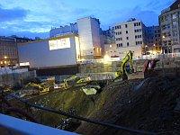 Construction site next to Tesco (Máj) building, photo: Kristýna Maková
