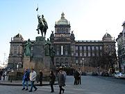 La place Venceslas à Prague