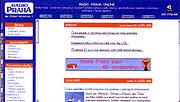 Internetseiten von Radio Prag 2001