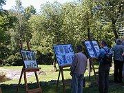 Ausstellung auf dem Dorfplatz