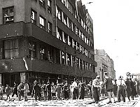 Czech Radio building in May 1945