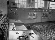 Transmisores de onda corta en la estación de radiotelegrafía de la ciudad de Podebrady.