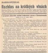 Semanario Radiojournal, enero de 1937.