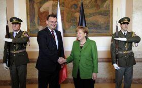Петр Нечас и Ангела Меркель (Фото: ЧТК)