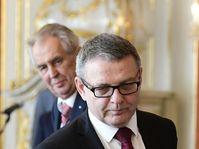 Lubomír Zaorálek et Miloš Zeman, photo: ČTK/Roman Vondrouš