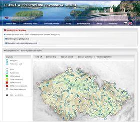 Сайт, предупреждающий об угрозе наводнения, Фото: Радио Прага