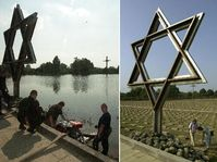 Terezin during the floods and one year later, photo: CTK