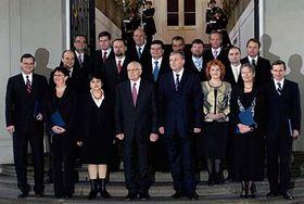 Prezident Václav Klaus jmenoval 9. ledna vládu Mirka Topolánka, foto: ČTK