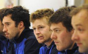 Mikhail Kukushkin, Andréi Golúbev, Yevgeni Koroliov, Yegor Shladunov. Foto: ČTK