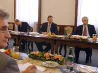 Czech government and President of the Czech and Moravian Confederation of Trade Unions, Milan Stech, photo: CTK
