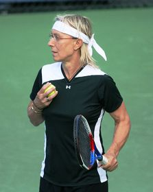 Martina Navratilova, photo: Robbie Mendelson, CC BY-SA 2.0