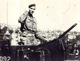 Josef Hercz au défilé militaire à Prague en 1945