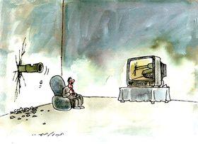 Una caricatura de Abdul Raheem Yassir, foto: Archivo del DOX