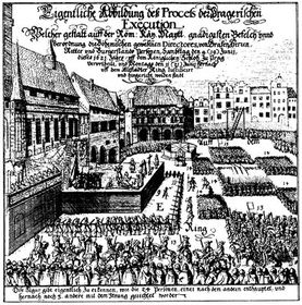 Execution of 27 Protestant noblemen in 1621
