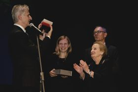 Madeleine Albright on stage at the Reality Czech evening in New York, photo: Elizabeth Andrews