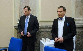 Petr Nečas y Vít Bárta, foto: ČTK