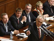 Miloš Zeman v poslanecké sněmovně, foto: ČTK / Michal Kamaryt